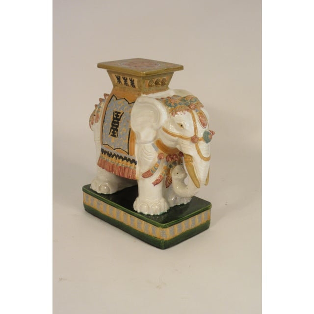 1960s Italian Ceramic Elephant Garden Stool For Sale - Image 9 of 13