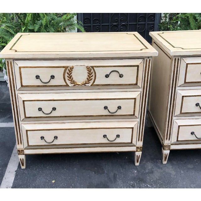 Neoclassical Pair of Nancy Corzine Designer Commodes or Nightstands For Sale - Image 3 of 5