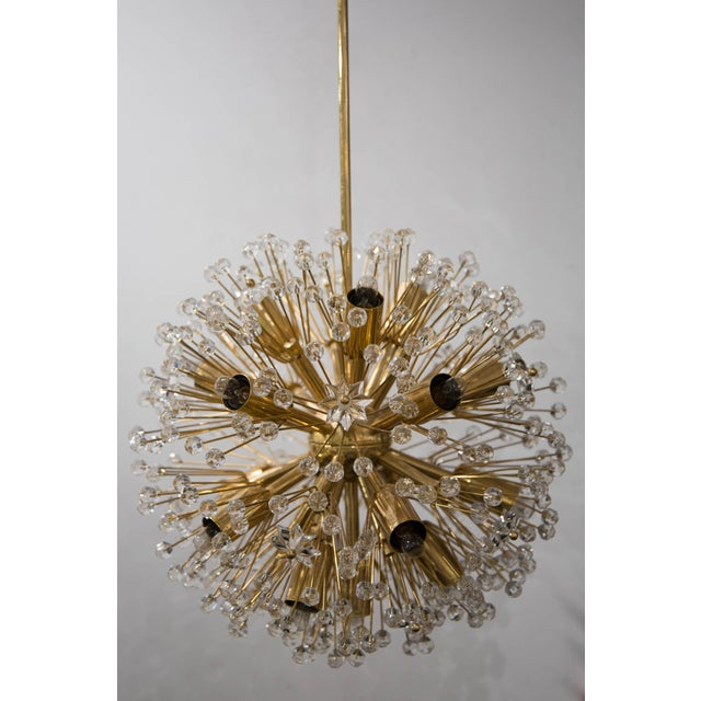 """Snowflake"" Crystal Chandelier by Emil Stejnar For Sale - Image 4 of 11"