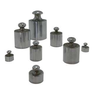 Industrial Vintage Weights - Set of 8 For Sale