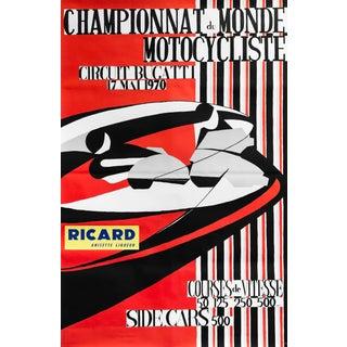 1970 Original French Racing Poster, Circuit Bugatti (Ricard) For Sale