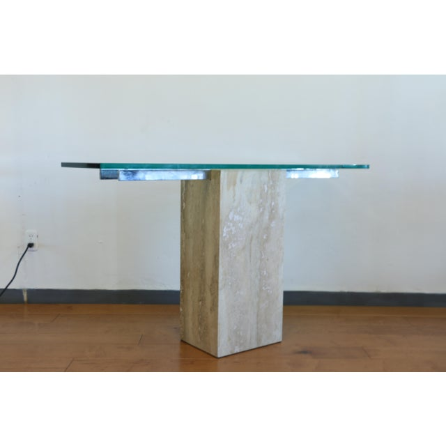 1970s Vintage Travertine Console Table For Sale - Image 5 of 8