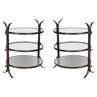 Bespoke Bronze Tulip Tables by Amir Khamneipur - a Pair For Sale