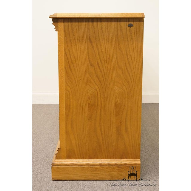 """Brown American Drew Country French Oak 72"""" Triple Door Dresser For Sale - Image 8 of 13"""