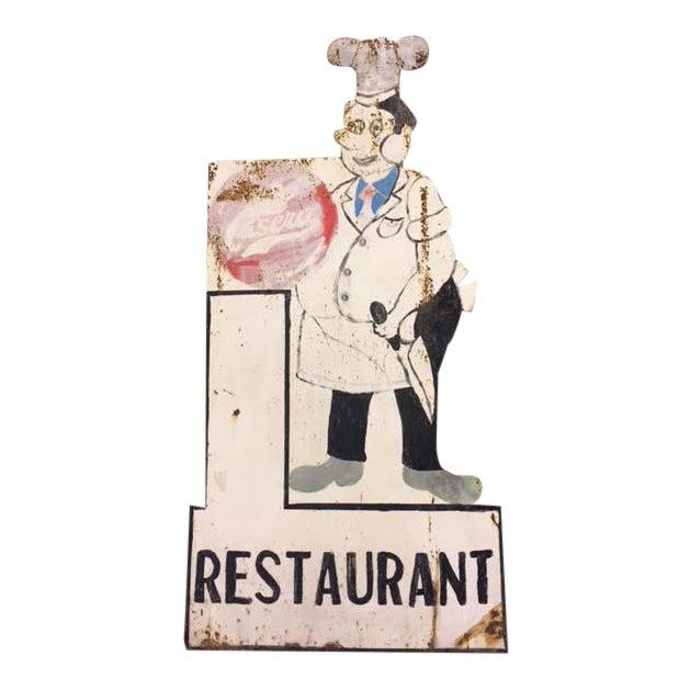 Vintage Spanish Restaurant Sign For Sale