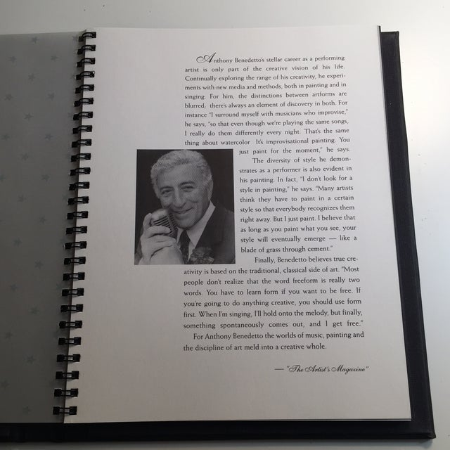 """Traditional """"An Evening with the Art of Tony Bennett"""" Book of Paintings For Sale - Image 3 of 11"""