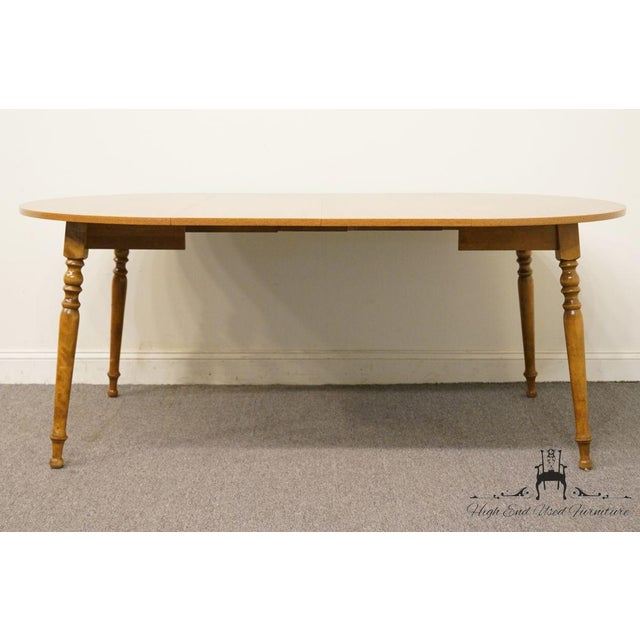 20th Century British Colonial Ethan Allen Heirloom Nutmeg Dining Table For Sale In Kansas City - Image 6 of 9