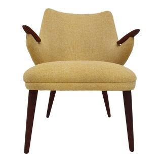 1960s Vintage Erling Olsen Reupholstered Danish Armchair For Sale