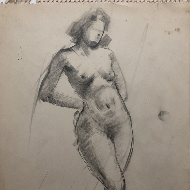 Realism 1930s Female Nude by Henry Gasser For Sale - Image 3 of 7
