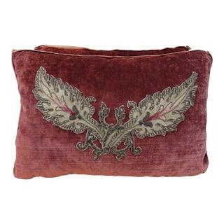 Petite Applique Velvet Pillows - a Pair