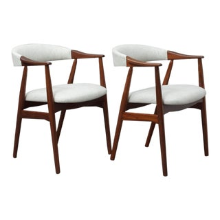 1960s Mid-Century Modern Thomas Harlev Farstrup Chairs - a Pair For Sale