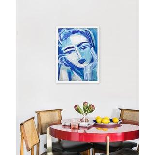 "Medium ""Blue Girl 18"" Print by Maren Devine, 19"" X 24"" Preview"