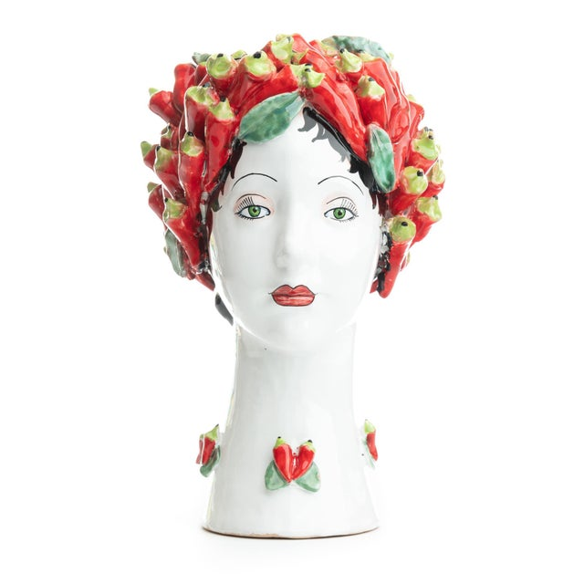 Ceramic Sculpture with Peppers, Ceramiche D'arte Dolfi For Sale - Image 7 of 12