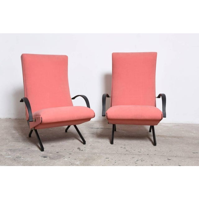 Osvaldo Borsani Set Osvaldo Borsani, P40 Lounge Chairs for Tecno For Sale - Image 4 of 11