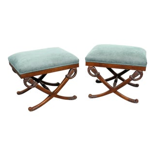 """Emerson """"X"""" Benches - a Pair For Sale"""