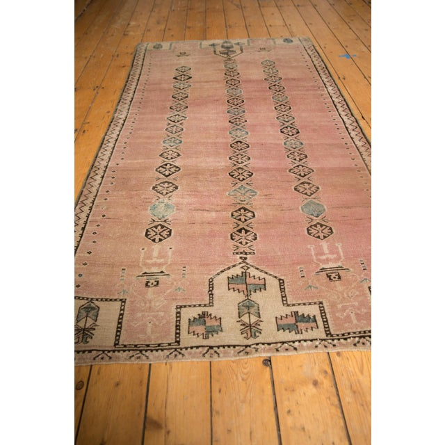 """1950s Vintage Distressed Belouch Rug - 3'8"""" X 6'7"""" For Sale - Image 5 of 12"""