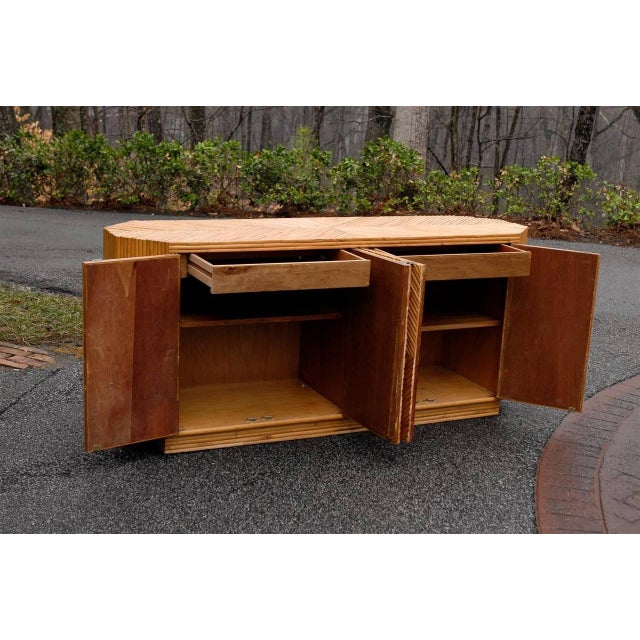 Vintage Split Bamboo Cabinet or Buffet For Sale In Atlanta - Image 6 of 10