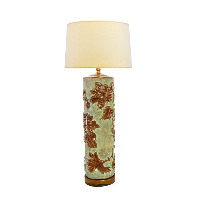 Large Vintage Wallpaper Roller Lamp - Image 1 of 3