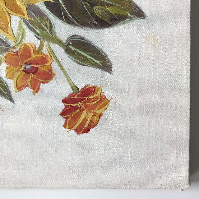 Vintage Original Floral Painting For Sale In Minneapolis - Image 6 of 10