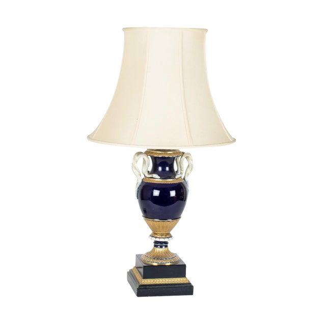 Meissen Porcelain Snake Handle Lamp Chairish