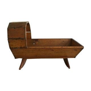 Antique Rustic Primitive Cradle For Sale