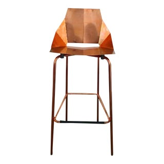 "Blu Dot ""Real Good"" Copper Barstool"