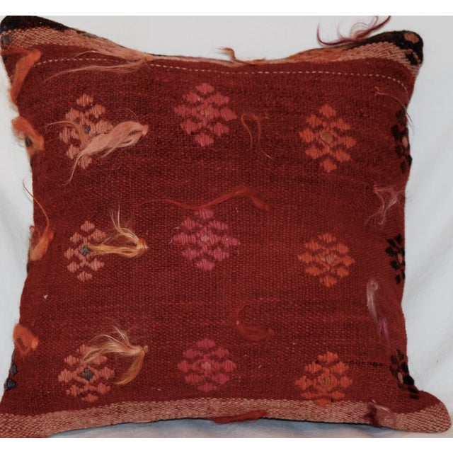 Vintage Handmade Wool Decorative Boho Pillow - Image 4 of 6
