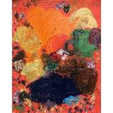 Image of Sean Kratzert 'Red Labrador' Abstract Oil Painting For Sale