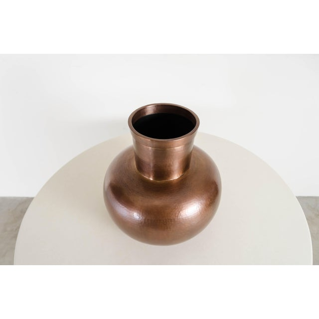Contemporary Da Hu Copper Jar - Antique Copper by Robert Kuo, Hand Repousse, Limited Edition For Sale - Image 3 of 6