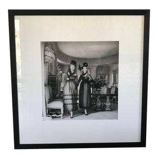 1960s Mark Shaw Dior Ysl Original Fashion Framed Print For Sale