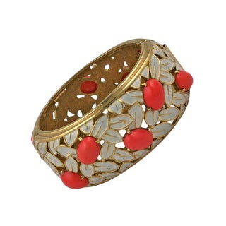 Jomaz Coral and Enamel Cuff For Sale