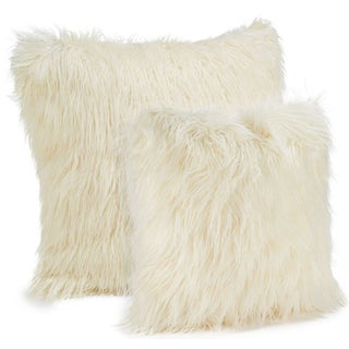 Faux Mongolian Pillows - A Pair