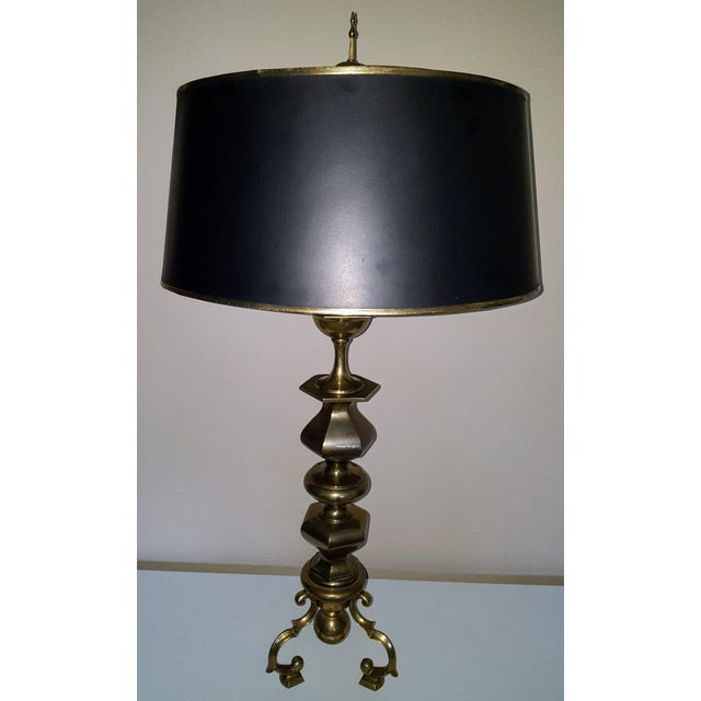 Chapman Manufacturing Company Monumental Chapman Brass Lamp For Sale - Image 4 of 5