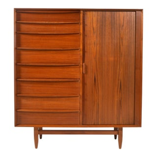 Sven Madsen Teak Gentleman's Chest by Falster Mobelfabrik For Sale