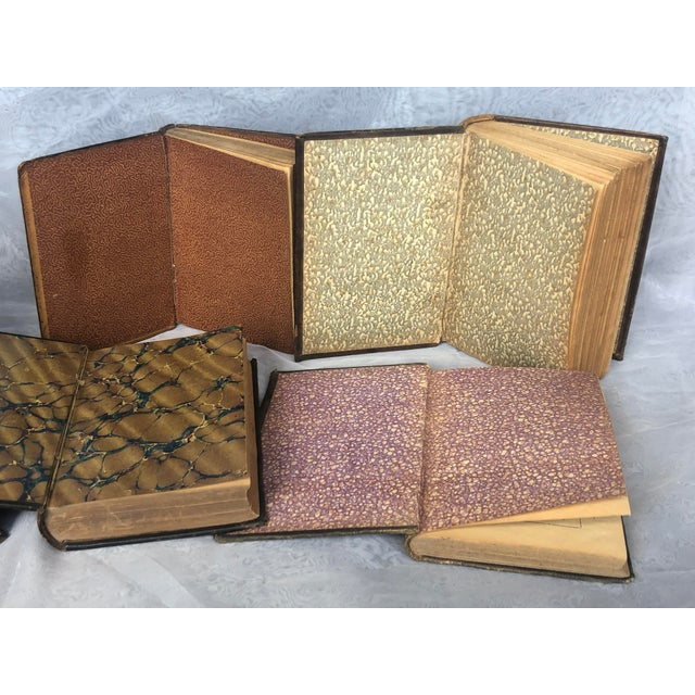 Antique Leather Bound Spanish Books - Set of 8 For Sale - Image 10 of 13