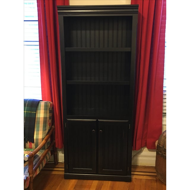 Distressed Black Bookcase - Image 2 of 5