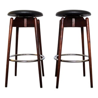 Mid-Century Modern Lawrence Peabody Swivel Stools for Nemschoff - A Pair For Sale