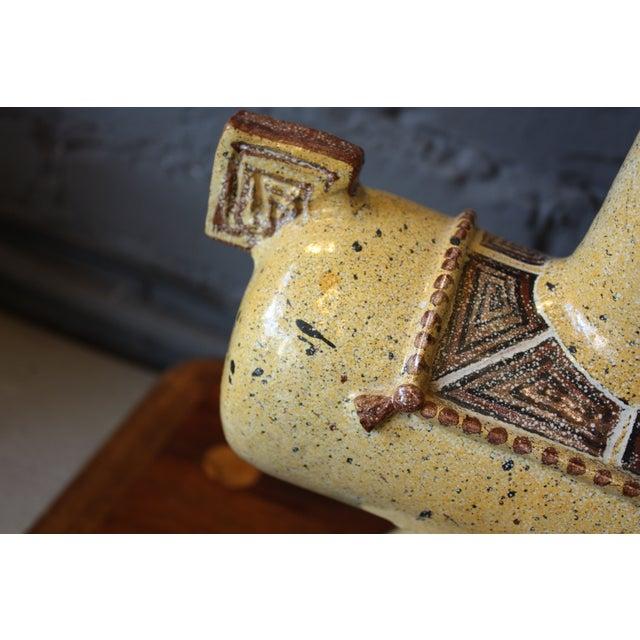 Gambone 1960s Italian Gambone-Style Ceramic Horse Lamp For Sale - Image 4 of 7