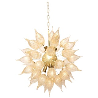 "Murano Glass ""Sunshine"" Sputnik Chandelier For Sale"