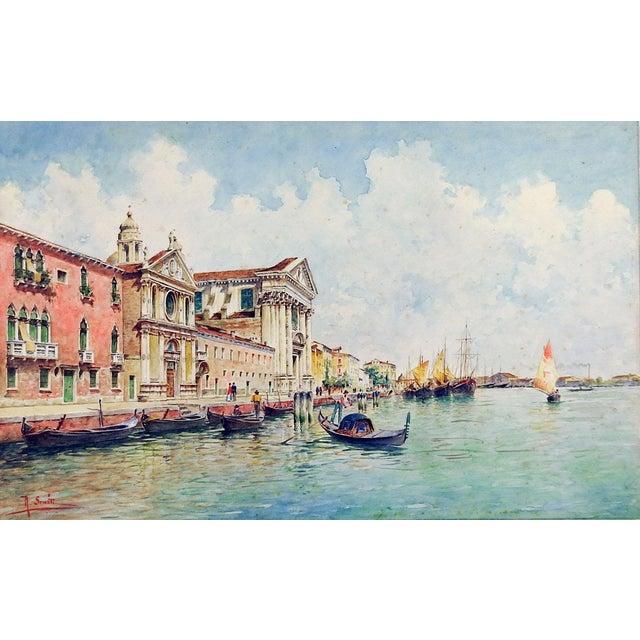 Venice Watercolor Painting by Rafael Senet For Sale