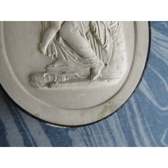 19th Century Grand Tour Neoclassical Plaster Intaglios - Set of 7 For Sale - Image 10 of 13