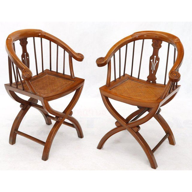 1970s Teak Horseshoe Back Lounge Chairs - a Pair For Sale - Image 13 of 13
