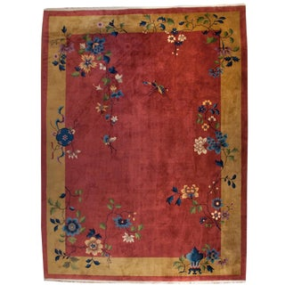 "Chinese Art Deco Rug - 108"" x 140"" For Sale"