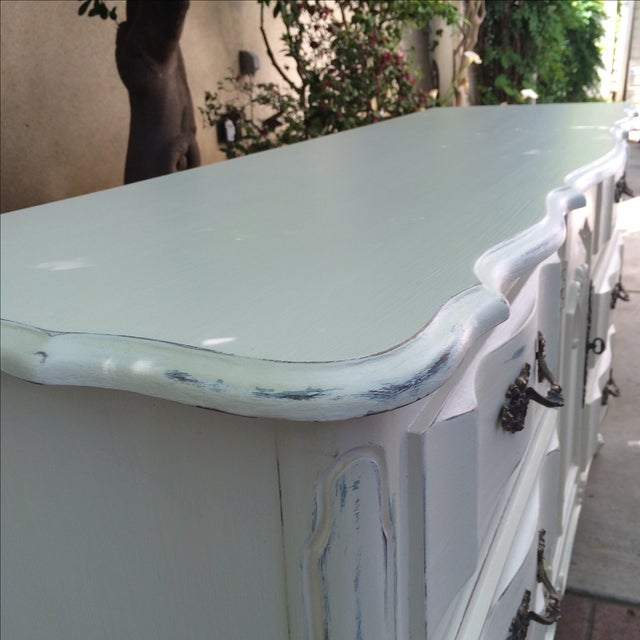 French Provincal White Buffet Dresser For Sale - Image 11 of 11