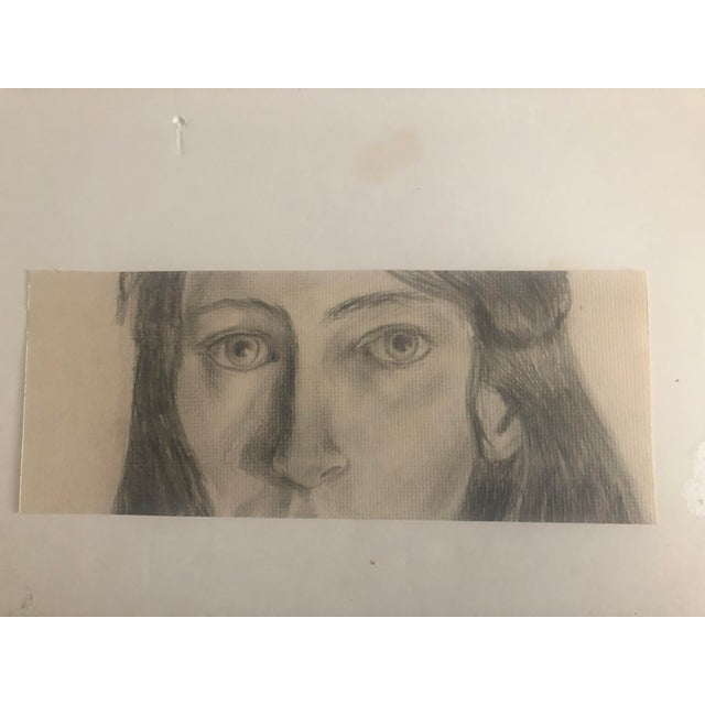 Portraiture 1960s Drawing of a Lady For Sale - Image 3 of 5