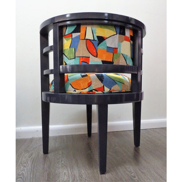 Modern Barrel Style Modern Chairs - a Pair For Sale - Image 4 of 7