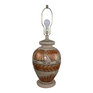 Post Modern Artmaster Studios Pottery Table Lamp For Sale