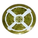 Image of Imari Japanese Gold Hand Painted Green Plate For Sale