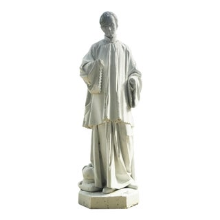 Late 18th Century Lifesize Stone Statue For Sale