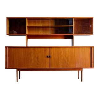 Vintage Danish Modern Peter Lovig Nielsen Sideboard & Cabinet Hutch For Sale